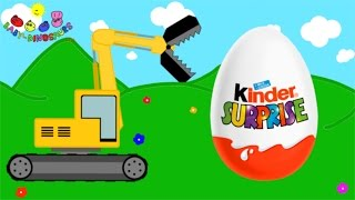 Download Surprise Eggs and Excavator | Dinosaurs for Children Video