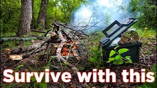 Download Homemade Ammo Can Survival Kit - How to survive in the woods Video