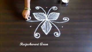 Download friday simple kolam designs with 5x3 dots || easy rangoli designs || chukkala muggulu designs Video