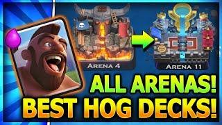Download TOP 3 HOG RIDER DECKS ALL ARENAS w/ NO LEGENDARY CARDS!! Clash Royale Best Hog Decks Video