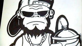 Download como desenhar um gorila Grafite Video