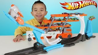 Download HOT WHEELS Rocket Launch Challenge 3 Stunts In 1 Fun With Ckn Toys Video