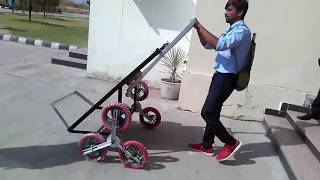 Download Final year project. Mechanical engineering, good project, stair climbing trolley. Video