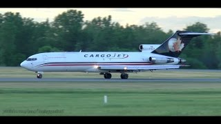 Download LOUD and Smoky! Cargojet 727 Sunset Takeoff from Ottawa Video