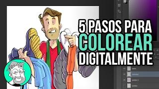 Download 5 pasos para colorear digitalmente un dibujo Video