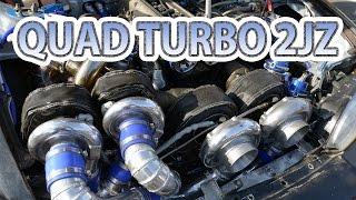Download Quad-turbo 2JZ first test drive. Caroline Racing's S14 Silvia Video