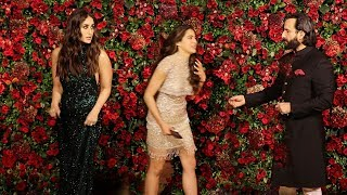 Download Kareena Kapoor IGNORES Sara Ali Khan In Front of Saif Ali Khan @Ranveer-Deepika WEDDING Party Video
