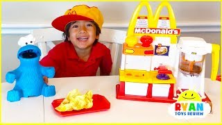 Download Ryan Pretend Play with McDonalds Toys and cook toys food! Video