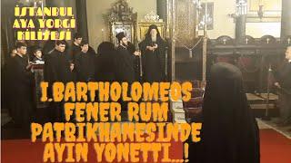 Download İstanbul Fener Rum Ortodoks Patrikhanesi ve Aya Yorgi kilisesi'nde Bartholomeos ayin yönetti Video