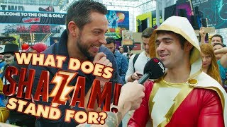 Download Zachary Levi Asks Fans: What Does SHAZAM Stand For? - IGN Access Video