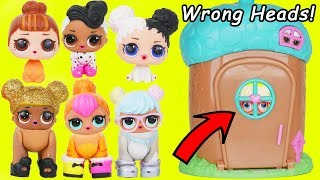 Download LOL Surprise Dolls get Custom Wrong Heads + Pet Animals Video