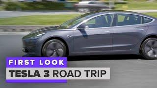 Download Tesla Model 3 road trip: Fremont, Calif. to LA Video