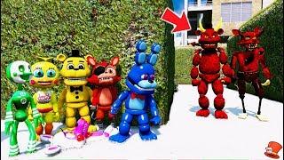 Download CAN THE FNAF WORLD ANIMATRONICS HIDE FROM DEVIL FREDDY & FOXY? (GTA 5 Mods For Kids FNAF RedHatter) Video
