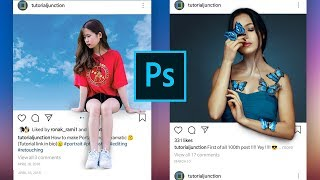 Download How to Create 3D instagram photo Frame Effect | Photoshop Tutorial Video