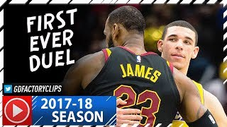Download LeBron James vs Lonzo Ball FIRST Duel Highlights (2017.12.14) Lakers vs Cavaliers - SICK! Video