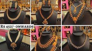 Download Rs 450 Onwards Designer Necklace   Neck Sets   Pendant   Haram   Mugappu Chain   Video