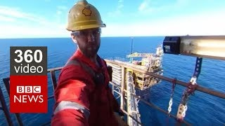 Download In 360: Life on an Oil Rig- BBC News Video