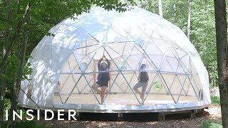 Download Camp Out In A Giant Clear Dome In The New York Woods Video