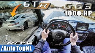 Download 1000HP Mercedes G63 AMG vs AMG GTR | AUTOBAHN POV by AutoTopNL Video