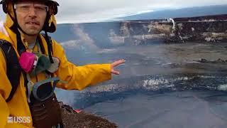 Download USGS Scientist Talks About Lava Lake in Halema'uma'u Crater Video