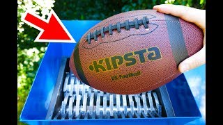 Download WHAT WILL HAPPEN IF YOU THROW A FOOTBALL INTO THE SHREDDING MACHINE? Video