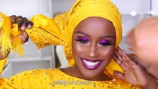 Download TRADITIONAL NIGERIAN BRIDAL MAKEUP AND GELE TRANSFORMATION | NIGERIAN WEDDING |NIGERIAN QUEEN Video