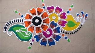 Download Freehand Rangoli Design With Pen Holder. Video