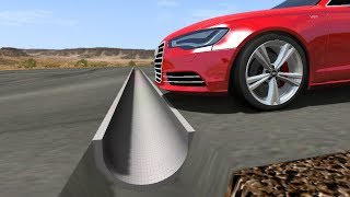 Download Beamng drive - Reverse Speed Bump against cars Video
