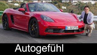 Download Porsche 718 Boxster GTS vs Cayman GTS FULL REVIEW comparison 2018 - Autogefühl Video