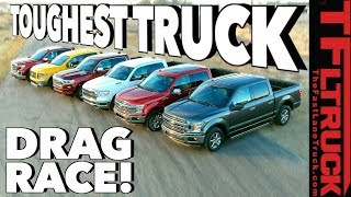 Download What's the Fastest Half-Ton You Can Buy? World's Toughest Truck Drag Race #1 Video