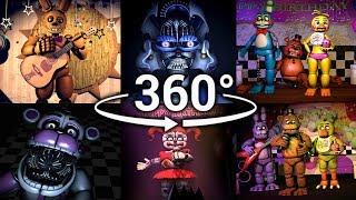 Download 360°| Best FNAF 360 Show Compilation!! - Five Nights at Freddy's [SFM] (VR Compatible) Part 1 Video