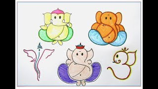 Easy Ganpati Drawings And Color For Kids And Beginners Free Download