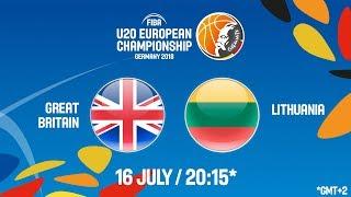 Download LIVE 🔴 - Great Britain v Lithuania - FIBA U20 European Championship 2018 Video