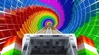 Download EXTREME MINECRAFT RAINBOW ROLLER COASTER! Video