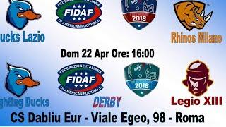 Download Live: 3 div. 2018 - F.Ducks Vs Legio XIII 36-0 Video
