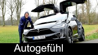 Download Tesla Model X FULL REVIEW test driven Crossover SUV p90D - Autogefuehl Video