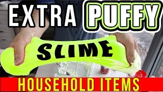 Download HOW TO MAKE EXTRA PUFFY SLIME WITH HOUSEHOLD OBJECTS! Video