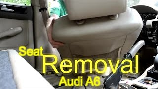 Download Remove an Audi A6 Front Seat - 02 Audi A6 C5 - How To Video