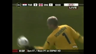 Download GOALKEEPER HITS TV SCREEN | Paul Robinson (England - Paraguay) Video