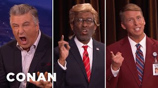 Download CONAN Staffers Challenge Alec Baldwin To A Trump Off - CONAN on TBS Video