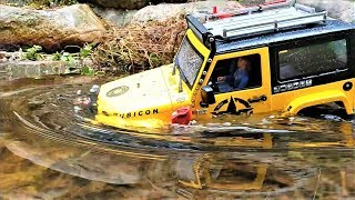 Download RC카 MST CFX Jeep Rubicon Rainy Day Valley Rock Crawling Video
