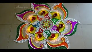 Download Beautiful and unique rangoli design | rangoli design for festivals | Rangoli by Poonam Borkar Video
