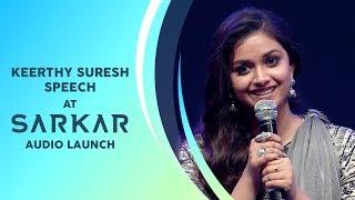 Download Keerthy Suresh Speech | Sarkar Audio Launch Video