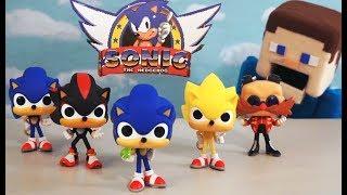 Download Sonic the Hedgehog Funko Pop Cartoon Action Figures Complete Toys Set Unboxing Puppet Steve Video