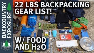 Download Lightweight Spring Backpacking Gear List - 22 Pounds w/ Food and Water Video