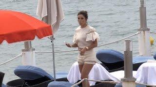 Download Eva Longoria at the L Oreal beach again in Cannes Video