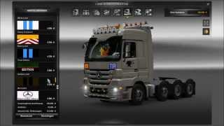 Download Euro Truck Simulator 2 Modvorstellung Tuning Pack für Mercedes Benz Actros Video