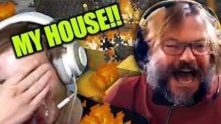 Download Jack Black BURNED down my Minecraft House!! Video