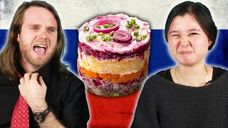 Download Americans Try Russian Holiday Food Video