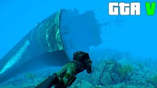Download Grand Theft Auto V - A huge Sunken Ship - GTA 5 Gameplay Video